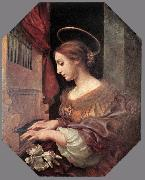 St Cecilia at the Organ dfg DOLCI, Carlo
