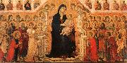 Madonna and Child Enthroned with Angels and Saints Duccio di Buoninsegna