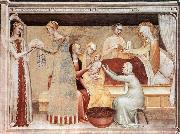 The Birth of the Virgin sg GIOVANNI DA MILANO