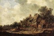 Peasant Huts with a Sweep Well sdg GOYEN, Jan van