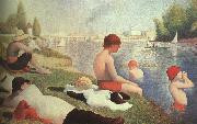 Bathing at Asniers Georges Seurat
