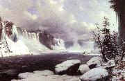 Winter at Niagara Falls Hyppolyte Victor Sebron
