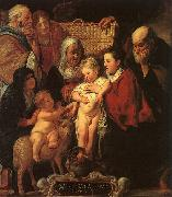 The Holy Family with St.Anne, the Young Baptist and his Parents Jacob Jordaens