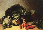Still Life Balsam Apple and Vegetables James Peale