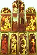 The Ghent Altarpiece with altar wings closed Jan Van Eyck