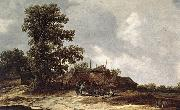 Farmyard with Haystack Jan van Goyen