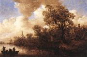 River Scene Jan van Goyen