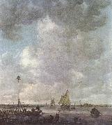 Marine Landscape with fishermen Jan van Goyen