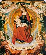 The Virgin in Glory Surrounded by Angels Jean Hey