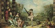The Music Party Jean-Antoine Watteau