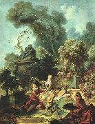 The Lover Crowned Jean-Honore Fragonard