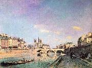 The Seine and Notre Dame in Paris Johann Barthold Jongkind