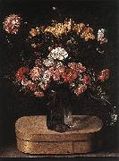 Bouquet on Wooden Box fg LINARD, Jacques
