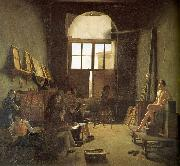 Interior of the Studio of David Leon-Matthieu Cochereau