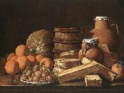 Still Life with Oranges and Walnuts ag MELeNDEZ, Luis