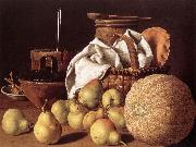 Still-life with Melon and Pears sg MELeNDEZ, Luis