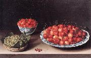 Still-Life with Cherries, Strawberries and Gooseberries ag MOILLON, Louise