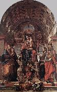 Madonna and Child Enthroned with Saints sg MONTAGNA, Bartolomeo