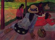 Afternoon Rest, Siesta Paul Gauguin