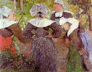 Four Breton Women Paul Gauguin
