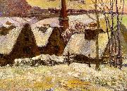 Breton Village in the Snow Paul Gauguin