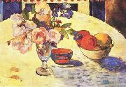 Flowers and a Bowl of Fruit on a Table  4 Paul Gauguin