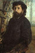 Portrait of Claude Monet renoir