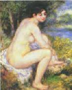 Female Nude in a Landscape renoir