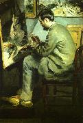 Bazille at his Easel renoir