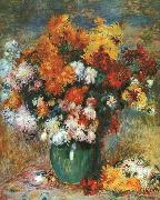 Bouquet de Chrysanthemes renoir