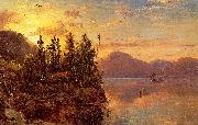 Lake George at Sunset 1862 Regis-Francois Gignoux