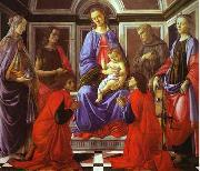Madonna and Child with Six Saints Botticelli