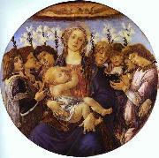Madonna and Child with Eight Angels Botticelli