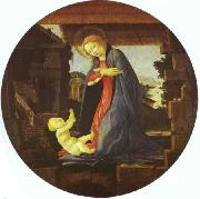 The Virgin Adoring Child Sandro Botticelli