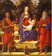 Virgin and Child Enthroned between Saint John the Baptist and Saint John the Evangelist Sandro Botticelli