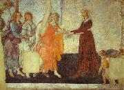 Venus and the Three Graces presenting Gifts to Young Woman Sandro Botticelli