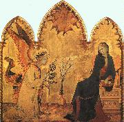 The Annunciation and the Two Saints Simone Martini