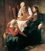 Christ in the House of Martha and Mary  r VERMEER VAN DELFT, Jan