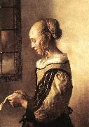 Girl Reading a Letter at an Open Window (detail) wt VERMEER VAN DELFT, Jan