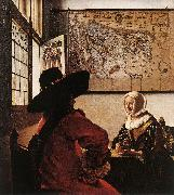 Officer with a Laughing Girl ar VERMEER VAN DELFT, Jan