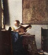 Woman with a Lute near a Window wt VERMEER VAN DELFT, Jan
