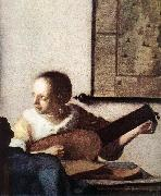 Woman with a Lute near a Window (detail) wt VERMEER VAN DELFT, Jan