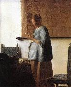 Woman in Blue Reading a Letter ng VERMEER VAN DELFT, Jan