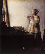 Woman with a Pearl Necklace wer VERMEER VAN DELFT, Jan