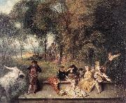 Merry Company in the Open Air1 WATTEAU, Antoine