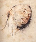 Head of a Man WATTEAU, Antoine