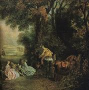 A Halt During the Chase21 WATTEAU, Antoine