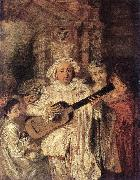 Gilles and his Family WATTEAU, Antoine