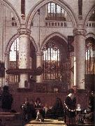 The Interior of the Oude Kerk, Amsterdam, during a Sermon WITTE, Emanuel de