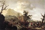 Stag Hunt in a River iut7 WOUWERMAN, Philips